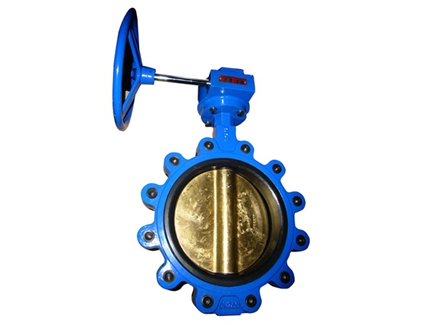 Aluminum bronze lugged butterfly valves with pin