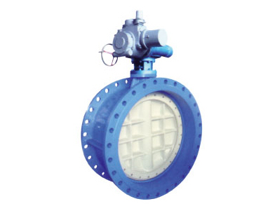Electric flanged double eccentric soft seal butterfly valves