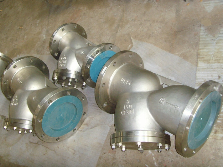 API CF8 Y type strainers with magnet cartridage