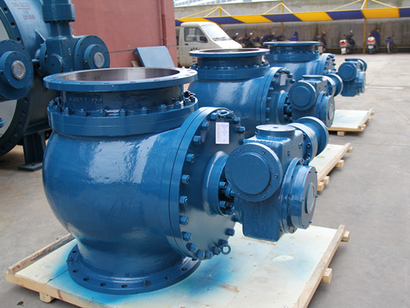 Hydraulic control slow closed hemispher ball valves