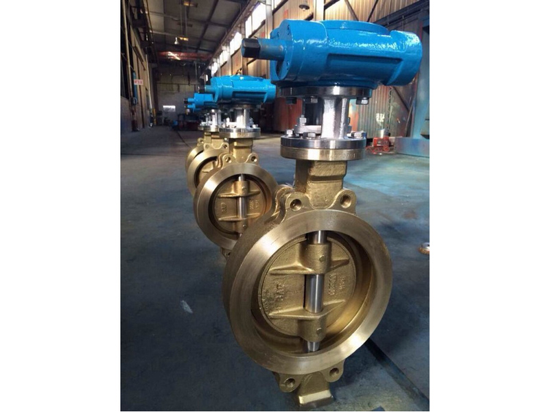 wafer triple offset aluminium bronze butterfly valves
