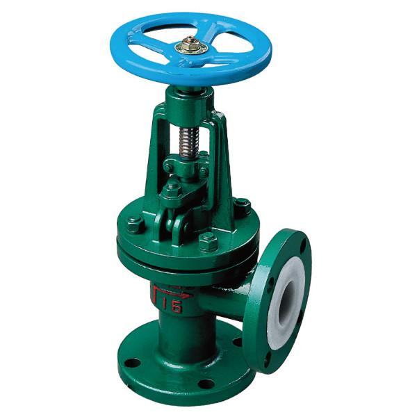 Lined F46 angle type globe valve