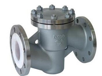 Lined F46 lift type check valve
