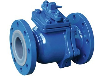 Lined PTFE ball valve