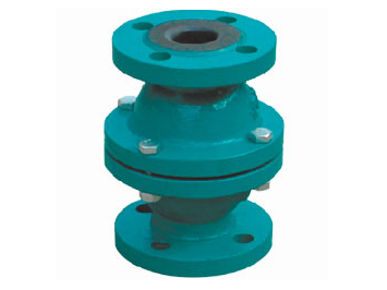 Rubber lined Float ball type check valve