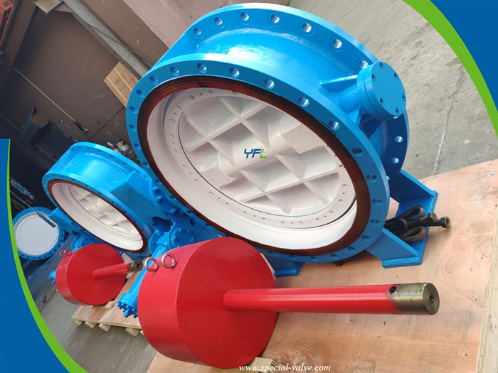 hydraulic slow closing butterfly valve