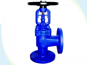Angle type bellows seal globe valve