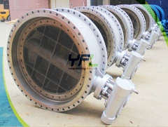 Lug triple offset metal seal butterfly valves