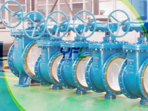 Triple offset top entry butterfly valves