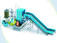 Motor recycling line