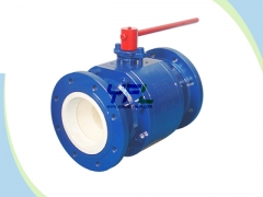 Fully ceramic lined  ball valve