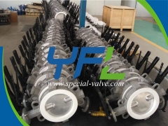 CF8M body PTFE Lined butterfly valve