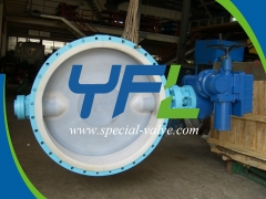 Electric Operated FEP Lined butterfly valve