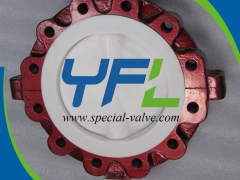 Lugged PTFE Lined butterfly valve