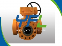 Reliable Gear Operated Four Way Plug Valve Supplier