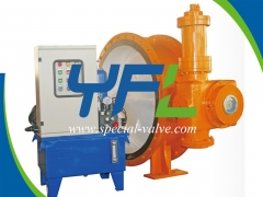 Accumulator Hydraulic Quick Shut Off Butterfly Valve by YFL