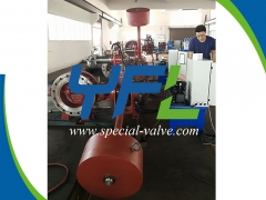 PN40 DN350 Hydraulic Butterfly Valve Under SGS Test by YFL