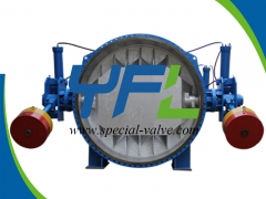 Hydraulic Slow Closing Butterfly Valve With Counter Weight