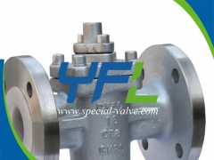 Reliable PN16 DN50 CF8 Body FEP Lined Plug Valve Supplier