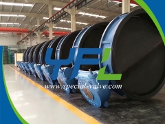 Large Size Rubber Lined Butterfly Valve for Seawater Desalination by YFL